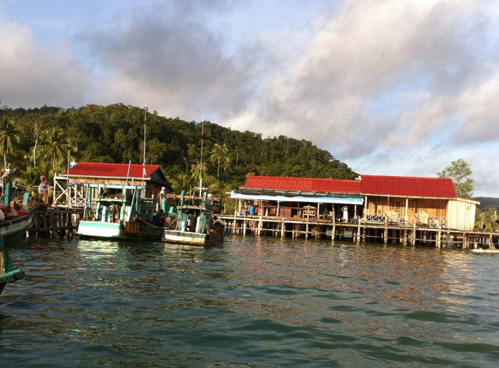 The local floating village