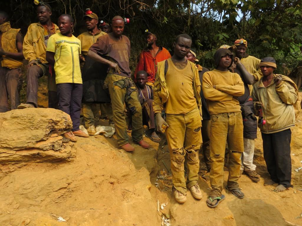 Congolese miners at a tin mine in the eastern DRC