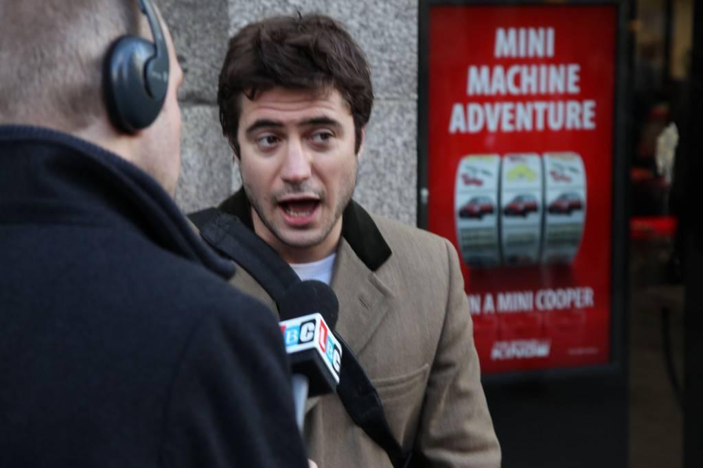 Matt gives an interview
