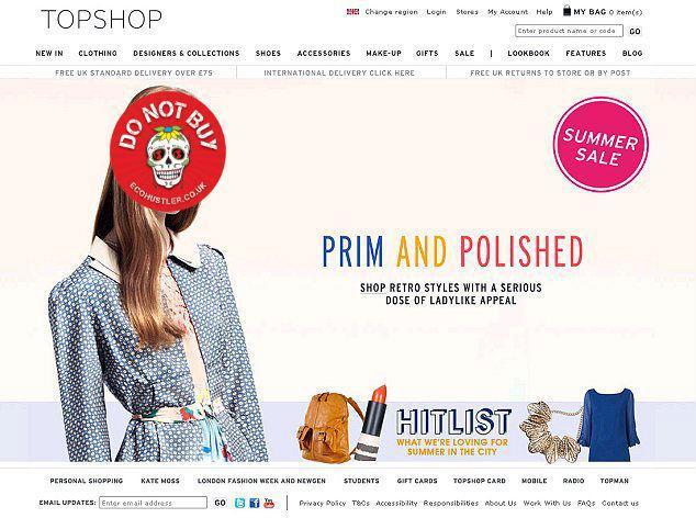 Top Shop + sticker
