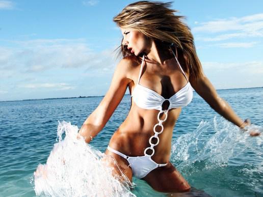 girl splash