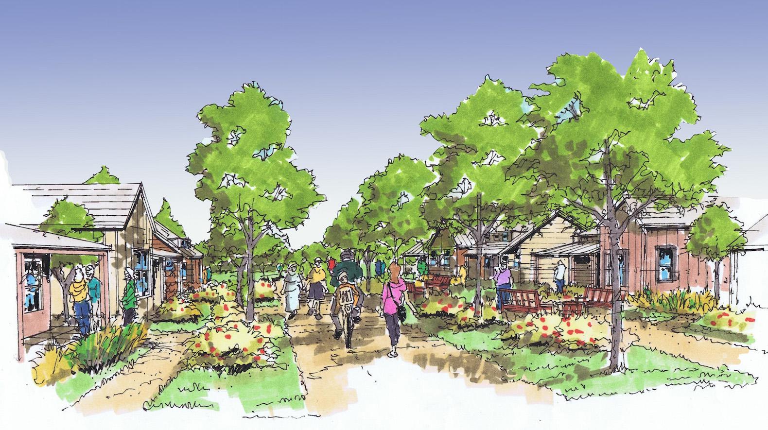 green town / sustainable neighbourhood