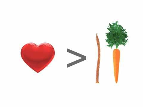 heart carrot stick