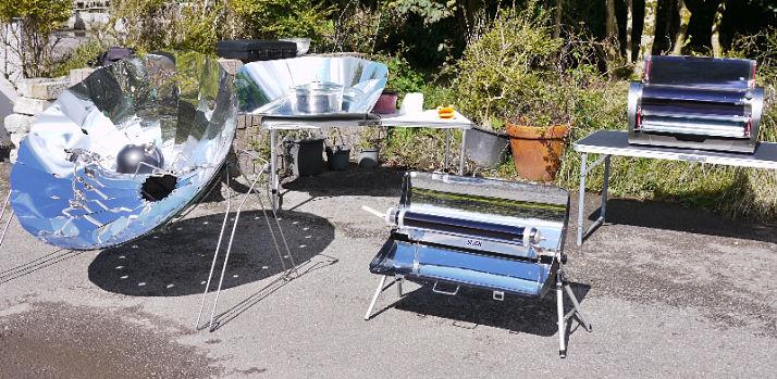 Menagerie of solar cookers