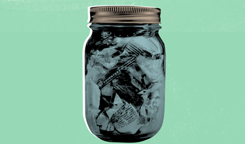 Could you reduce your weekly waste stream so small that it fits into a jam jar?